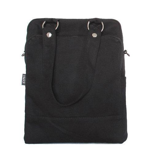Daily + clutch bag | Black Canvas