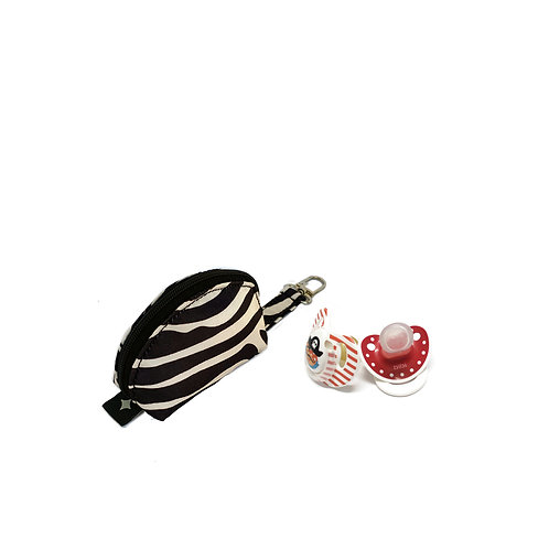 Pacifier pocket | Zebra