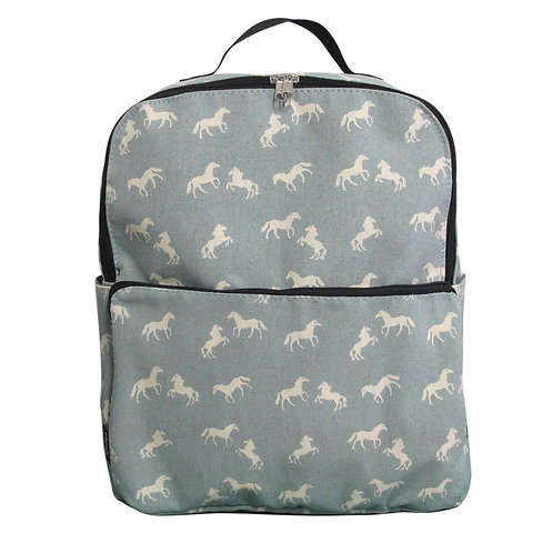 Blue backpack | Max Blue horses