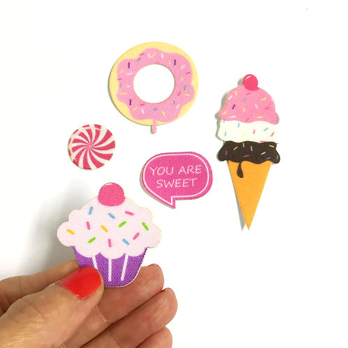 Heidi | Fabric Patch stickers | Designed stickers | Cupcake