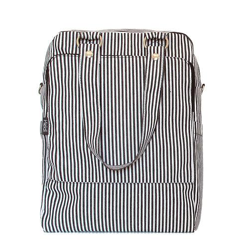 Daily + clutch bag   Daily Black Stripes