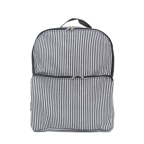 Striped backpack | Max Navy white stripes