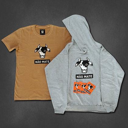 Combo NM: moletom + camiseta + adesivos