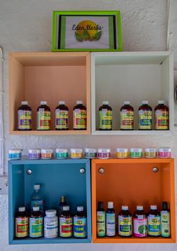 Eden Herbs Product Display Shelf