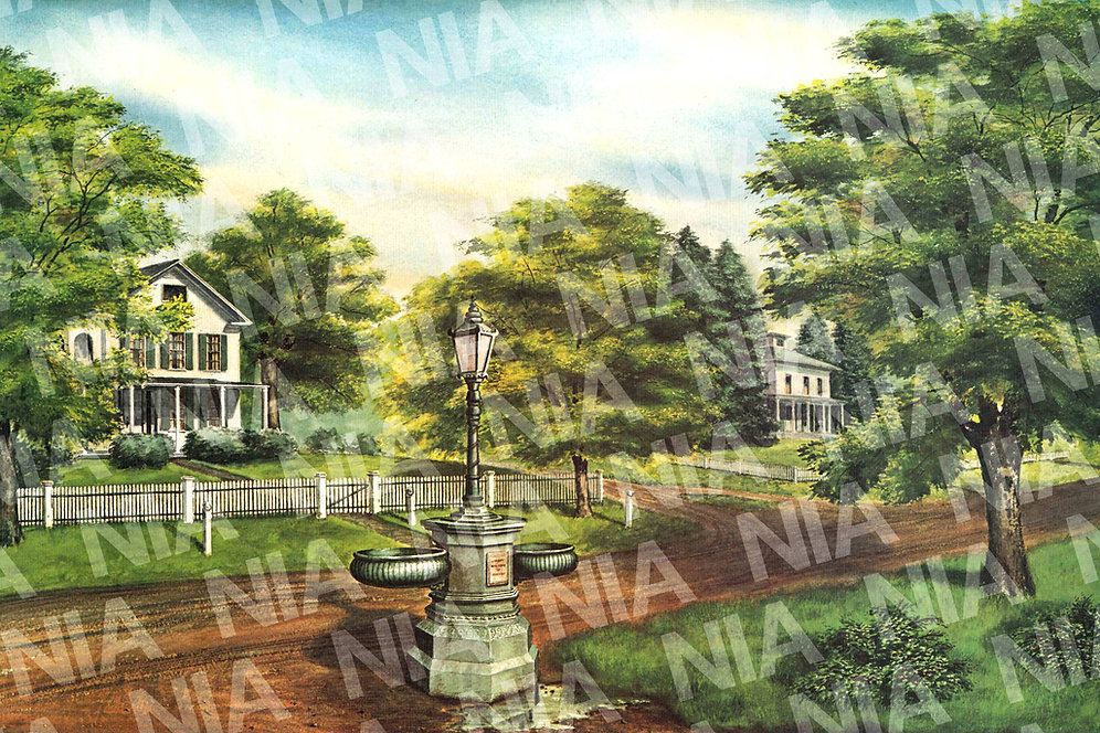 NIA FUNDRAISER - Nichols Center Circa 1910 Print