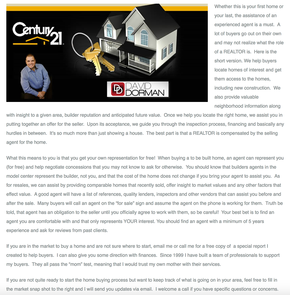 First time home buying tips from David Dorman of CENTURY 21 in Central Florida