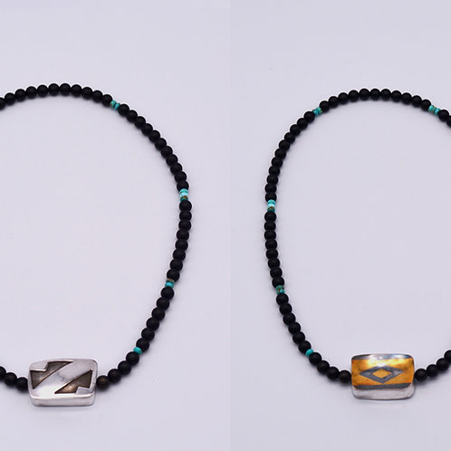 Reversible Hollow Formed Beaded Necklace