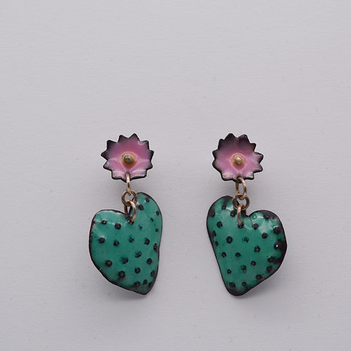 Heart of the Desert Cactus  Earrings