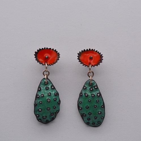 Cactus Prickly Pear Earrings