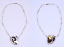Spiral Reversible Desert Shard Necklace
