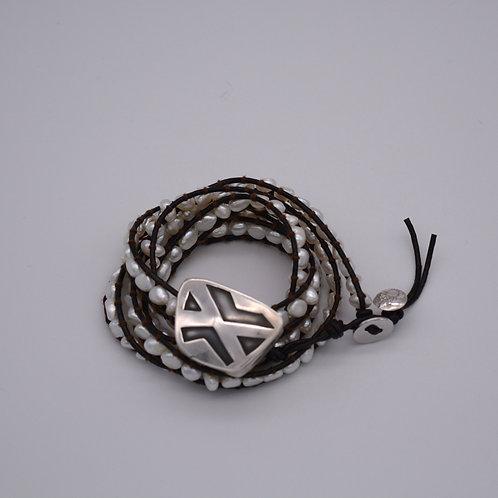 Hollow Form Wrap Bracelet