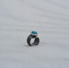 Blue Sky and Desert Sands Ring