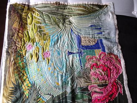 Silk painting by Brenda Shaw