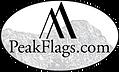 Peak Flags Black on White Oval Capitol L