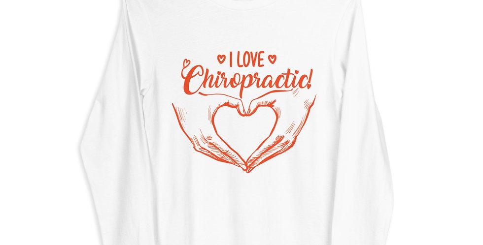 I Love Chiropractic Unisex Long Sleeve Tee