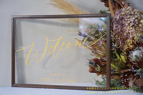 スケルトンウェルカムボード(フレーム3色)透明・クリア