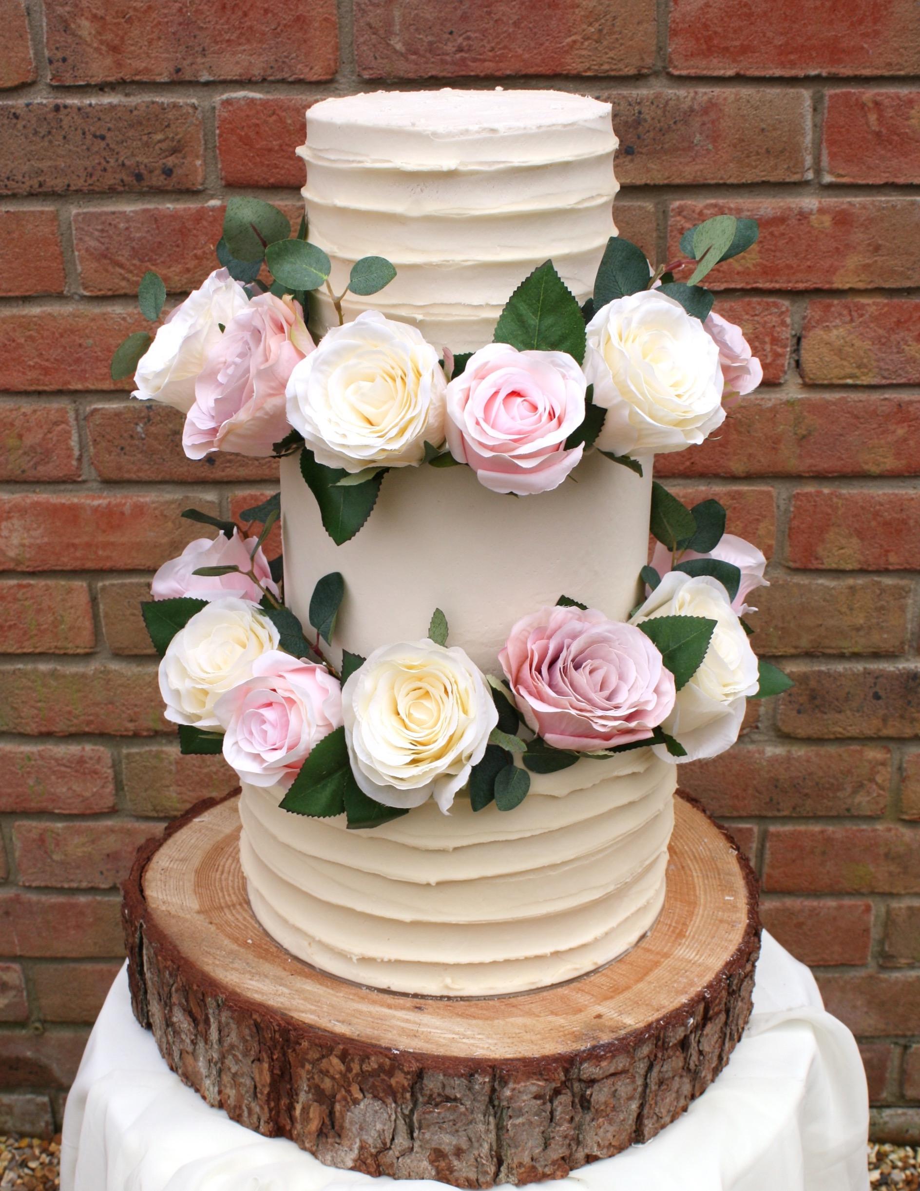 Pink and cream cake