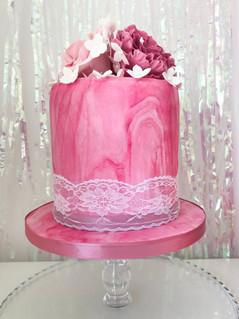 Marbled Buttercream Wedding Cake
