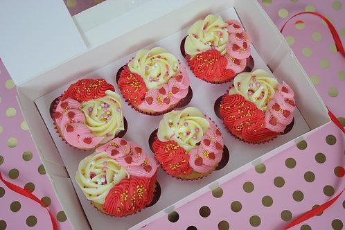 Valentines Cupcake Box