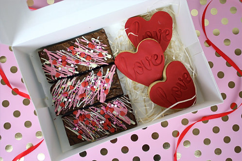 Valentines Biscuit and Brownie Box
