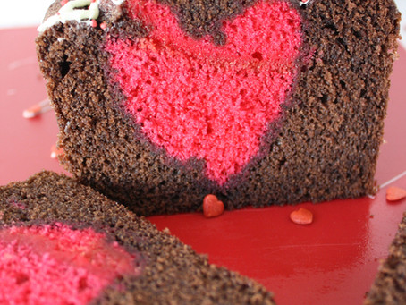 Valentines Chocolate Loaf Cake