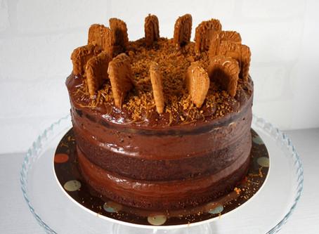 Vegan Biscoff Chocolate Cake