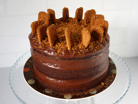 Vegan Biscoff Chocolate Cake