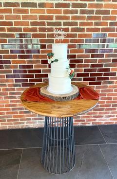 Semi Naked Buttercream Wedding Cake