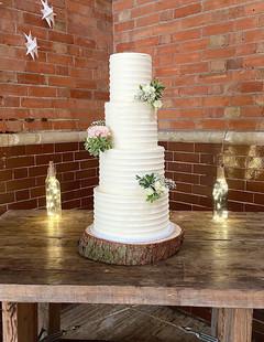 Ruffled Buttercream Wedding Cake