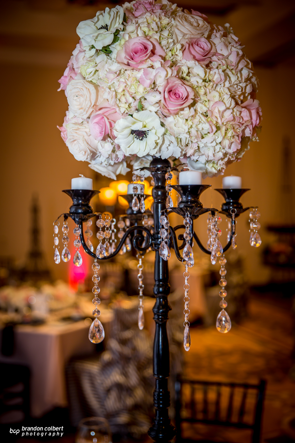 Black Candelabra Centerpiece