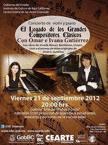 Concierto de piano en CEART Ensenada Omar e Ivanna