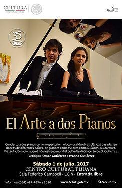 Concierto en CECUT Tijuana Omar e Ivanna