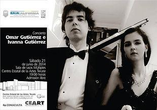 Concierto en CEART Tecate Omar e Ivanna