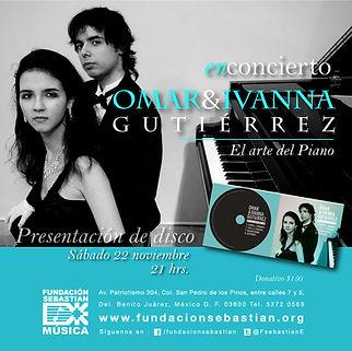 Concierto en Fundación Sebastian Ciudad de Mex. Omar e Ivanna