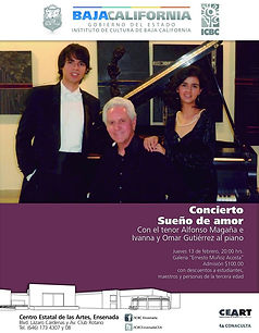 Concierto en CEART Ensenada Sueño de Amor, Omar e Ivanna