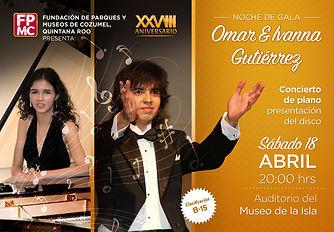 Concierto en Museo de Cozumel Omar e Ivanna