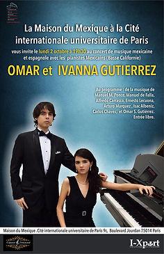 Concierto en Paris Omar e Ivanna Maison du Mexique
