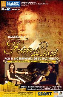 Concierto en CEART Mexicali Homenaje a F. Liszt Omar e Ivanna