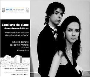 Concierto en CEART Tijuana Omar e Ivanna
