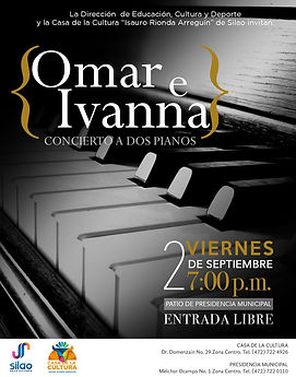 Concierto en Sala municipal de Silao Gto. Omar e Ivanna