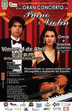 Concierto en Teatro Universitario Tecate Omar e Ivanna