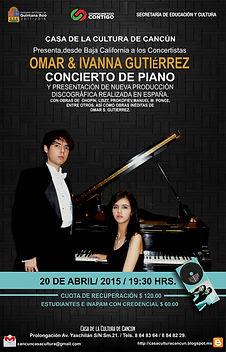 Concierto en Casa de Cultura de Cancún Omar e Ivanna