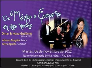 Concierto en Teatro Benito Juarez Omar e Ivanna