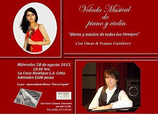 Concierto enLa Caba L.A. Cetto Omar e Ivanna