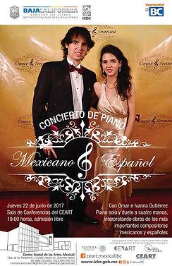 Concierto en CEART Mexicali Omar e Ivanna