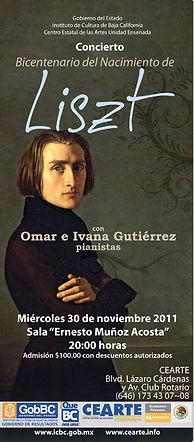 Concierto en CEART Ensenada Homenaje a F. Liszt Omar e Ivanna