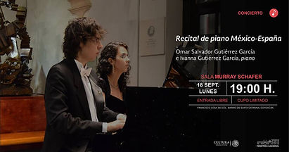 Concierto en Ciudad de México Omar e Ivanna Fonoteca Nacional