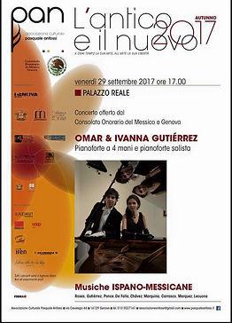 Concierto en Italia Omar e Ivanna Palazzo Reale Genova, Italy