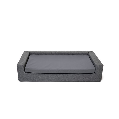 GREY Orthopedic dog bed-sofa