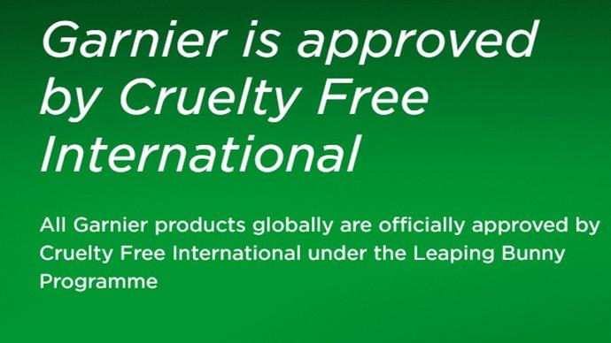 Garnier Is Officially Cruelty Free